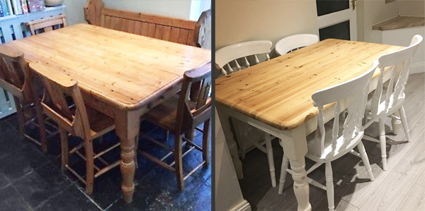 Surprising How To Upcycle A Dining Room Table Paulas Projects Caraccident5 Cool Chair Designs And Ideas Caraccident5Info